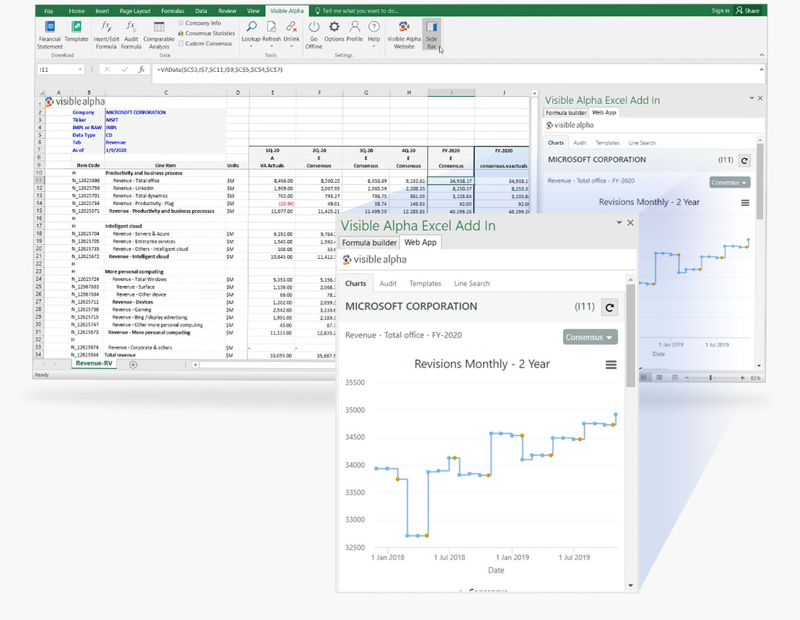 Visible Alpha Insights Excel